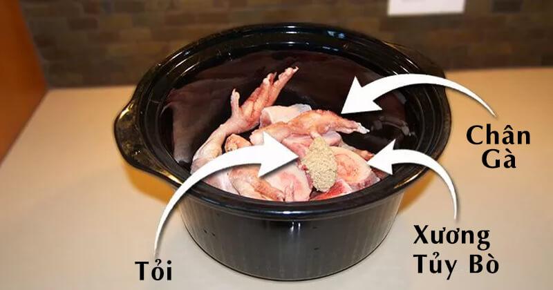 Bước 1 chuẩn bị nguyên liệu cho công thức nước hầm xương cho chó