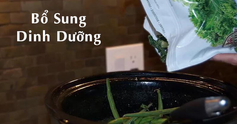 Bổ sung 1 số loại thực vật để công thức nước hầm xương cho chó có nhiều dinh dưỡng